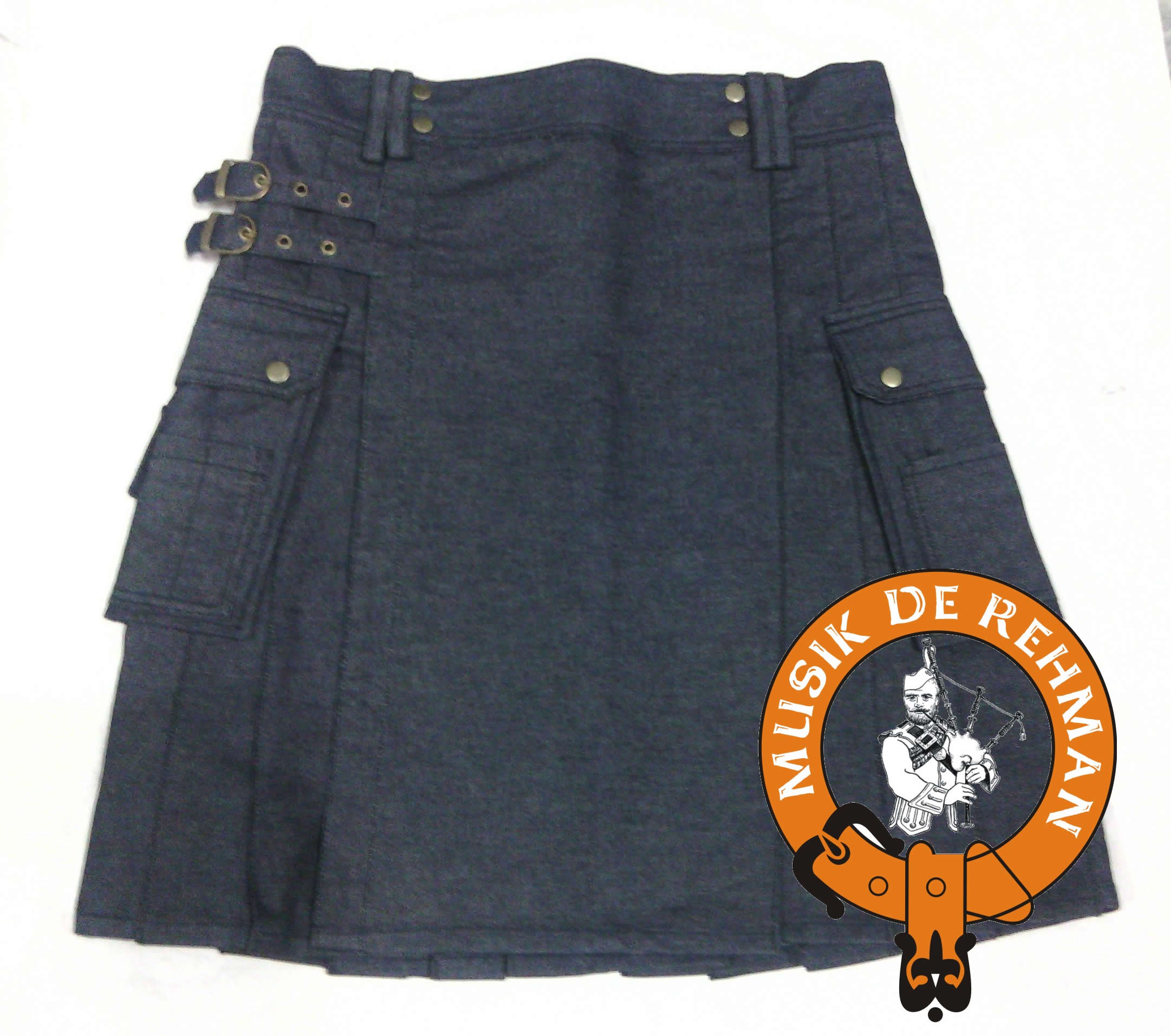 Denim Utility Kilt